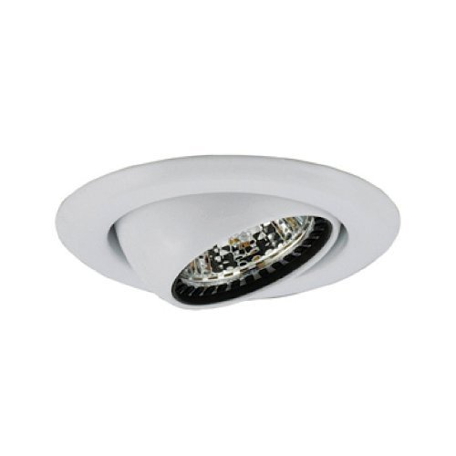 Jesco Lighting TM306WH 3-Inch Aperture Low Voltage Trim Recessed Light, Adjustable Eyeball, White Finish by Jesco Lighting Group