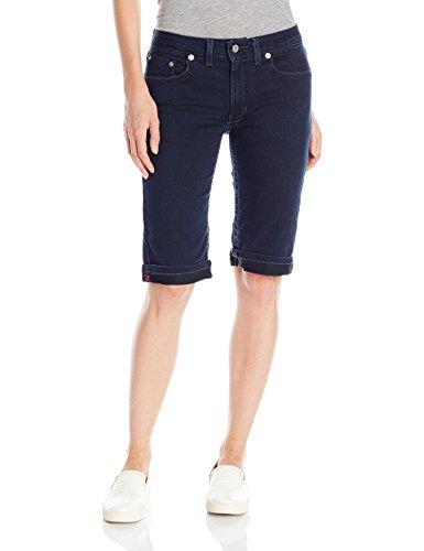 Dickies Women's Denim Bermuda Short, Dark Stone Wash, 14 - Dickies Denim Shorts