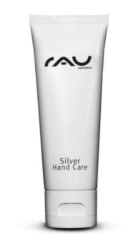 RAU Silver Hand Care 75 ml - Beste Handcreme für sehr trockene und beanspruchte Haut - enthält kolloidales Silber, Jojobaöl & Zink - Anti-Aging Creme für rissige Hände & brüchige Nägel - Intensive Naturkosmetik mit LSF - Für Neurodermitis geeignet - Für Frauen und Männer - In der Tube