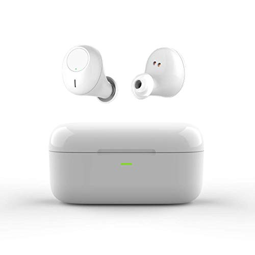 Wireless Earbuds V4.2 Bluetooth Headphones Wireless in Ear Earbuds Mini Noise Cancelling Sweatproof Stereo Headsets for iPhone Samsung Android Phones (White)