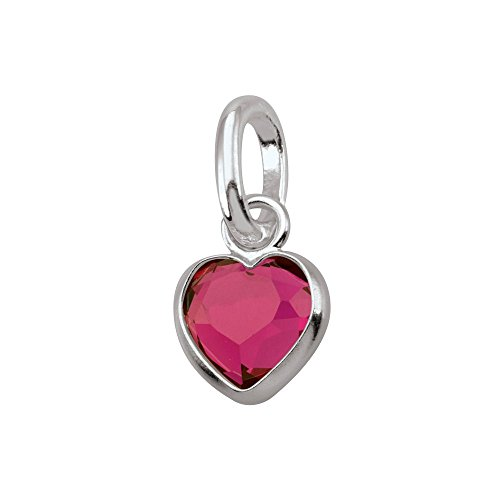 Ruby Birthstone Charm - PersonaPhi Sterling Silver Charm, Birthstone Collection, July