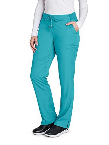 (Grey's Anatomy 4277 Straight Leg Pant Teal M)