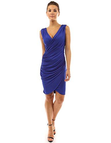 PattyBoutik DR-0938-BL-XL - Vestido para mujer Azul