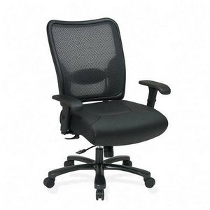 SPACE 7547A773 - Executive Big & Tall Chair, Air Grid Back/Leather Seat-OSP7547A773