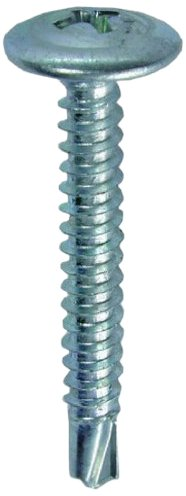 L.H. Dottie TEKW834 Self Drilling Screw Wafer Head, Phillips, No.8 by 3/4-Inch Length, 1/4-Inch Hex, Zinc Plated, 100-Pack by L.H. Dottie