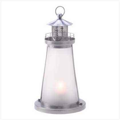 Glass Lookout Lighthouse Candle Lamp Candle Holder Lantern S Nautical Decor