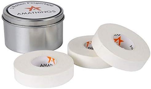 Cinta de escalada de 3-4 rollos en la caja de metal de 1,5 cm de ancho en cinta negra ideal para dedos y cinta deportiva para escalar boulder, ...