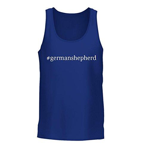 #germanshepherd - A Nice Hashtag Men's Tank Top, Blue, (Facebook Dog Tank)