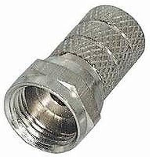 Manax® 10 x Conector F |steckerlänge 20 mm | Versión grafilada | vernickelt|