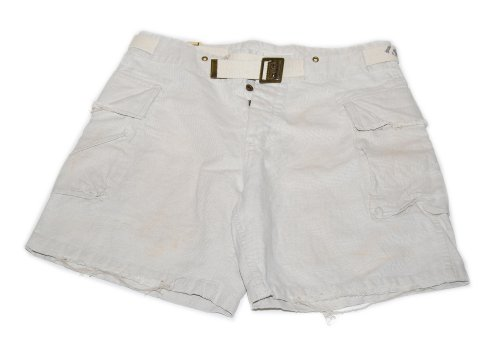 Polo Ralph Lauren Double RL RRL Belted Cargo Utility Carpenter Frayed Shorts Beige 36 (Double Pleated Corduroy)