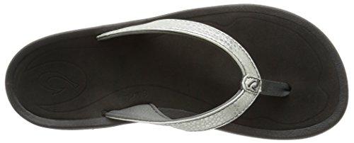 Silver Black Women's Sandal Kai Kulapa OluKai XqxIawfSn