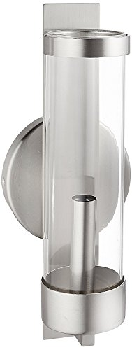 Livex Lighting 10141-91 Brushed Nickel Wall Sconce with Clear Glass ()