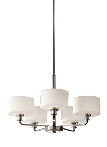 Murray Feiss Lighting Floor Lamps (Feiss F2773/5BS Kincaid 5 Light Single Tier Chandelier, Brushed Steel)
