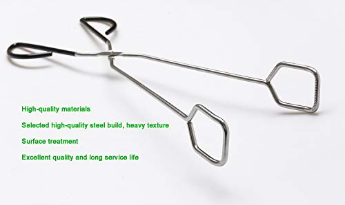 Stainless Steel Kitchen Tongs, Hiash 16 Inch Extra Long Scissor Tongs with Comfortable Handle for Barbecue Grilling