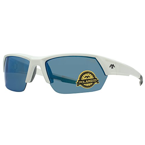 duck commander D855 WHT Mirrored Polarized Sunglasses, Shiny - Duck Sunglasses Commander