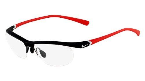 Nike Eyeglasses 7071/1 078 Matte Platinum/Red Demo 57 14 135