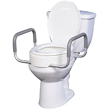 Amazon Com Elevated Toilet Seat W Arms For Elongated