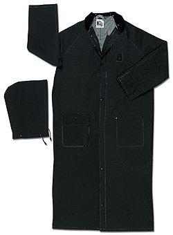 Classic Plus Rider Raincoats (MCR Safety Classic Plus 35mm PVC, 60 Inch Black Fire Resistant Raincoat - 5X-Large)