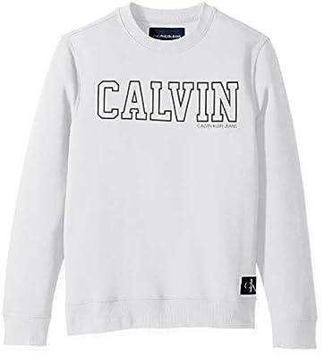 Calvin Klein Men's Crew Neck Sweatshirt Tonal Rib Tipping
