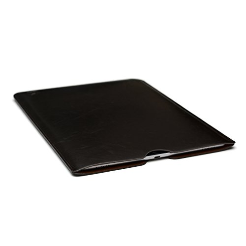 Synthetic Leather iPad Pro (12.9 inch iPad) Sleeve by Dockem; (Clean Cowhide Leather)