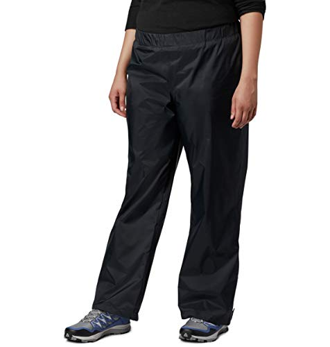 Columbia Women's Storm Surge Waterproof Rain Pant, Black, Medium x Regular