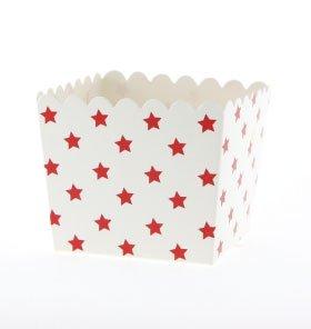 6 para blanco Snack-cajas con diseño de estrellas