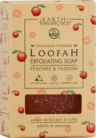 Soap-Loofah Exfoliating, Peach & Passion Earth Therapeutics 4 oz Bar (Earth Therapeutics Loofah Scrub)