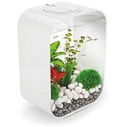 LIFE 15 Aquarium with LED Light - 4 gallon, white