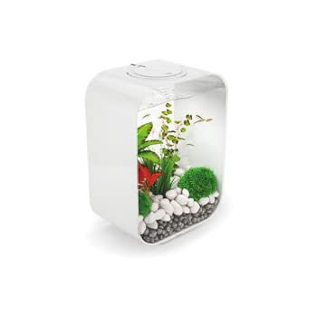 biOrb LIFE 15 Aquarium with LED Light – 4 Gallon, White