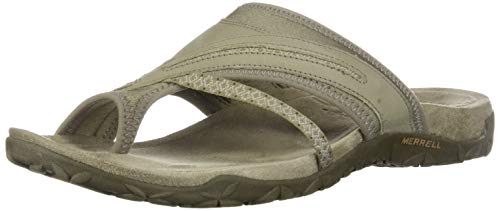 Merrell Women's Terran Post II Athletic Sandal, Taupe, 5 M US