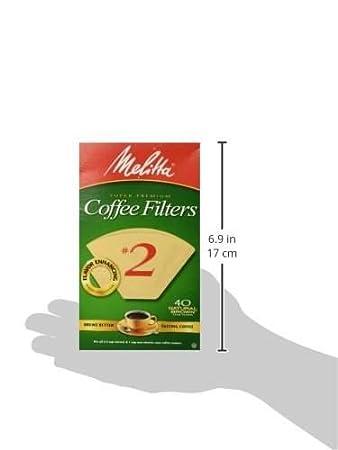 Amazon.com: Melitta 612412 # 2 Marrón Natural Cono Filtros ...