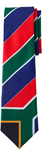 Jacob Alexander South Africa Country Flag Colors Men's Necktie - Red Green Blue Diagonal Stripe Design