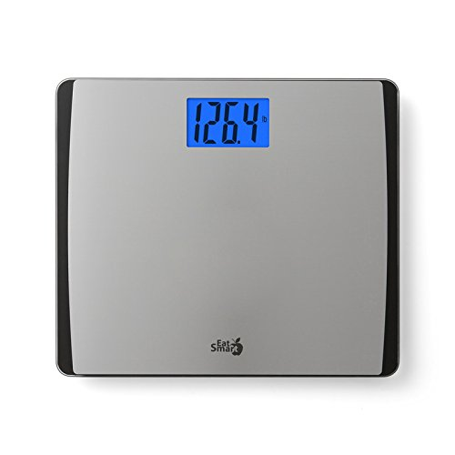 EatSmart Precision 550 Extra Wide Digital Bath Scale w/550 LB Capacity Stainless Steel