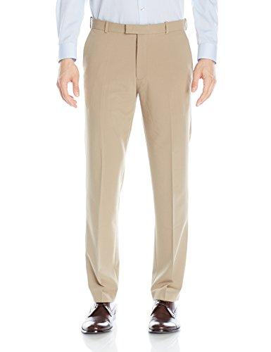 Van Heusen Men's Flex Straight Fit Flat Front Pant, Khaki, 40W x 30L ()