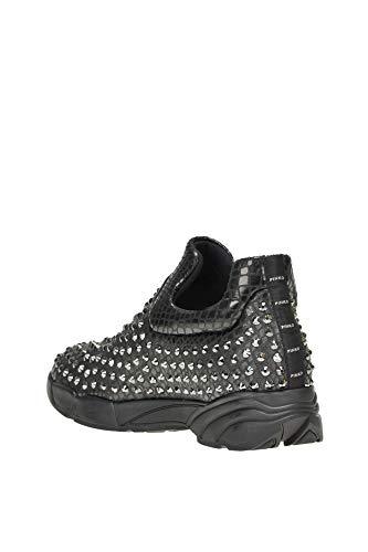 On Mujer Sintético MCGLCAK000004067I Pinko Zapatillas Negro Cuero Slip HU4WyqRW