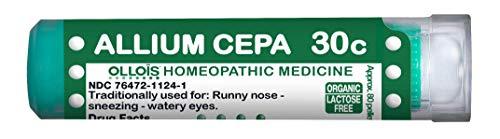 Ollois Lactose-Free, Organic, Homeopathic Medicines, Allium Cepa 30C Pellets, 80 Count
