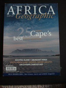 AFRICA Geographic - December 2004 / January 2005 - Socotra - Herds - Grey wolves - Desert Giraffes - Wildlife - Nature - Conservation - People - Travel - Socotra Single