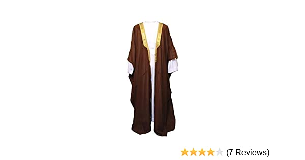 Amazon.com  Desert Dress Brown Bisht Cloak Arab Dress Thobe Saudi Mens Robe  Eid (Size  Adult)  Clothing 25a059b1b