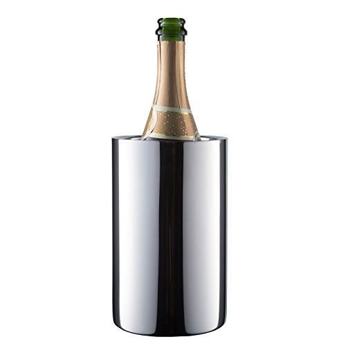 Enoluxe Wine Cooler Bucket - Wine Chiller Champagne Bucket for 750 ml Bottles - Insulated to Keep Wine Cold (Stainless Steel)