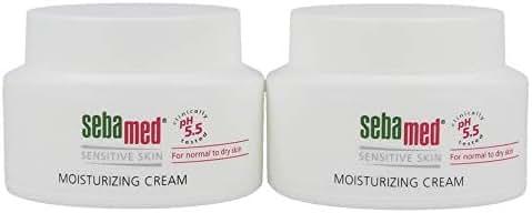 Sebamed Moisturizing Face Cream for Sensitive Skin Antioxidant pH 5.5 Vitamin E Hypoallergenic 2.6 Fluid Ounces (75mL) Ultra Hydrating Dermatologist Recommended Moisturizer (Pack of 2)