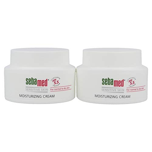 Sebamed Moisturizing Face Cream for Sensitive Skin Antioxidant pH 5.5 Vitamin E Hypoallergenic 2.6 Fluid Ounces (75mL) Ultra Hydrating Dermatologist Recommended Moisturizer (Pack of 2)