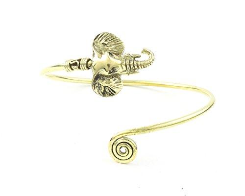 Elephant Brass Bracelet, Lucky Elephant, Armlet, Bangle, Arm Cuff, Boho, Bohemian, Gypsy, Festival Jewelry, Hippie