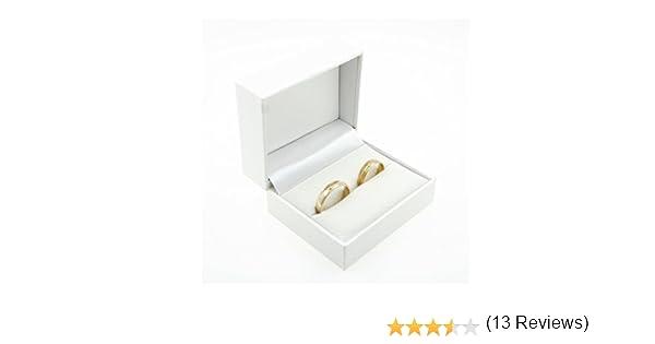 Estuche con 2 anillos de boda de alta calidad; para el compromiso ...