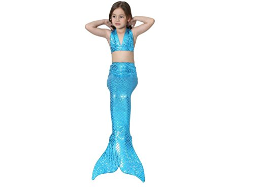 Niños Traje De Baño De La Sirena, Sirena Lovely Girls Piscina Blue Diving Alquiler De Vacaciones Bajo El Agua,L