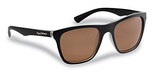 Flying FishermanFlying Fisherman Fowey Polarized Sunglasses, Crystal-Matte Black Frames, Copper Lenses,