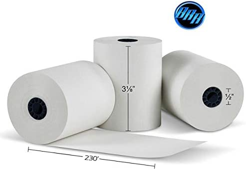 3-1/8 x230` (50 POS Rolls) Bpa Free Point-Of- Thermal Receipt Printer Paper -318230 From BuyRegisterRolls