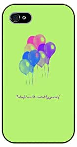 iPhone 5C Colorful world created by yourself. Balloons - Black plastic case / Inspirational and motivational life quotes / SURELOCK AUTHENTIC