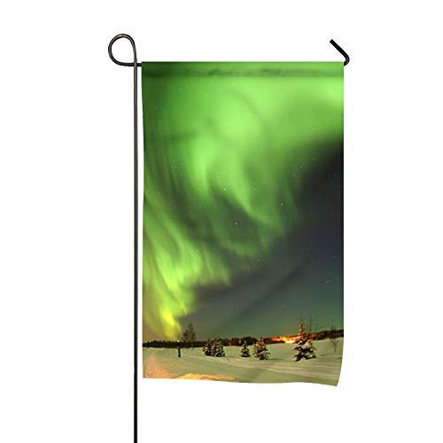 - Sbfhdy Home Accents Garden Flag, Butterfly Cross Decoration Alaska Atmosphere Aurora Borealis