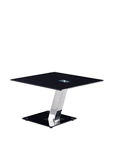 End Table in Black and Chrome