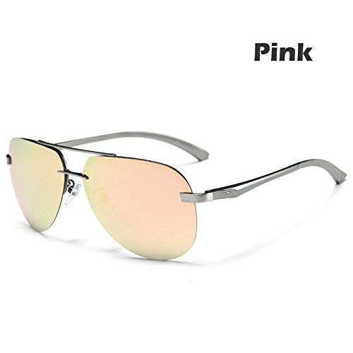 verde sol Gafas UV400 polarizadas estilo del hombres TIANLIANG04 la aleación de macho Pink la metal Gafas Gun piloto 100 anteojos gafas de de guía BqpxwdxF